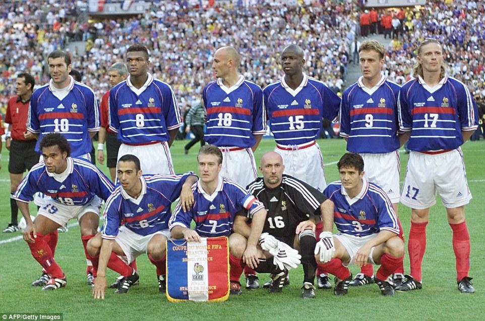 12 juillet 1998 france 3 0 br sil finale de coupe du monde poteaux carr s - Emmanuel petit coupe du monde 1998 ...